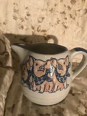 Louisville Stoneware Three Little Pigs Pitcher
