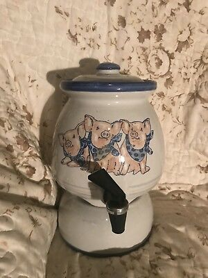 Louisville Stoneware Three Little Pigs Drink Dispenser