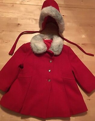 Vintage 1950s Cute Togs Coat And Hat Size 2