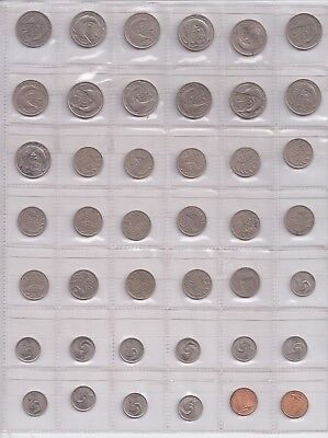 Singapore Page   1,5,10,20 Cent Coins Unchecked.