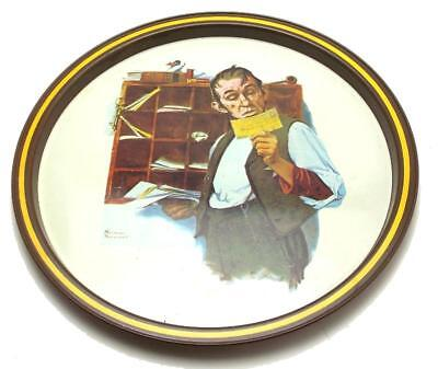 Norman Rockwell First Limited Edition Postal Collectors Tray Country Postman '76