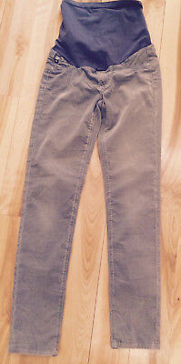 A Pea In The Pod Adriano Goldschmied AG Maternity Straight Leg Grey Courduroy 26