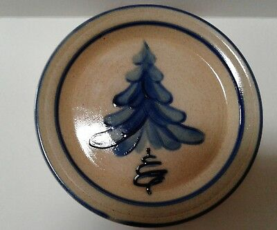 Shadowlawn Pottery Salt Glazed Stoneware Holiday Plate, Delavan, WI. Marked