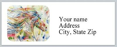 30 Personalized Return Address Labels Horse Buy 3 get 1 free (c 804)