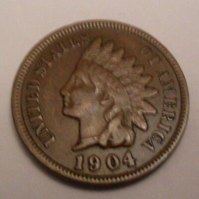 1904 P Indian Head Cent Penny  *VF - VERY FINE*  **FREE SHIPPING**