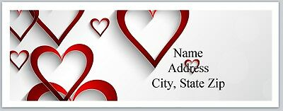 Personalized Address Labels Hearts Valentine Buy 3 get 1 free (P 515)