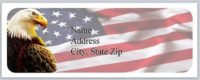 Personalized Address Labels US Flag Eagle Buy 3 get 1 free (P 507)