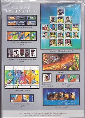 2000 Collection Of Australian Stamps Silver Unopened Beautiful Xmas Present.