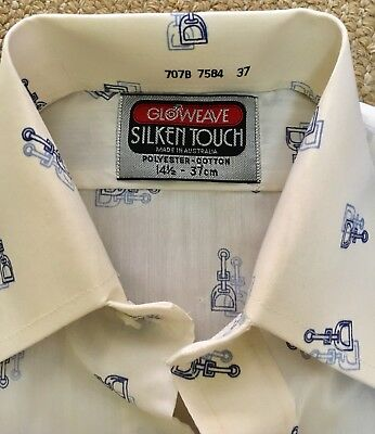 MEN's Vintage 1970s Shirt NEVER WORN Gloweave SIZE 37 SM