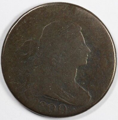 1800 1c Draped Bust S-207 Large Cent UNSLABBED