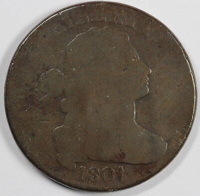 1801 1c Draped Bust S-220 Large Cent UNSLABBED