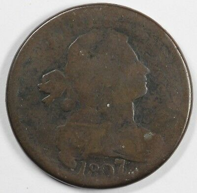 1807/6  1c Draped Bust S-273 Large Cent UNSLABBED