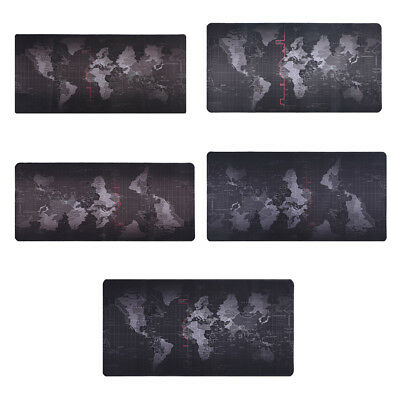 Home Office World Map Large Extended Rubber Speed Gaming Mouse Pad Desk Mice Mat