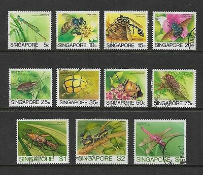 SINGAPORE 1985 Insects, No.1, to $5, 11 of 12, used