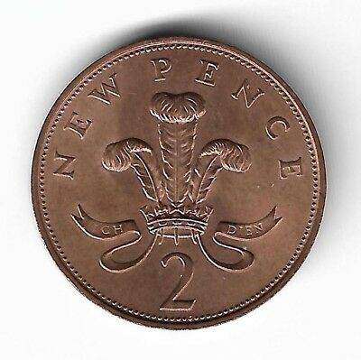 1971 UNITED KINGDOM 2 New Pence circulated coin