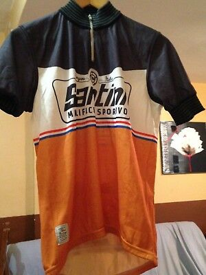 espace Maillot Santini Wool Heritage FS94514TWY2 - Gris/Orange taille L
