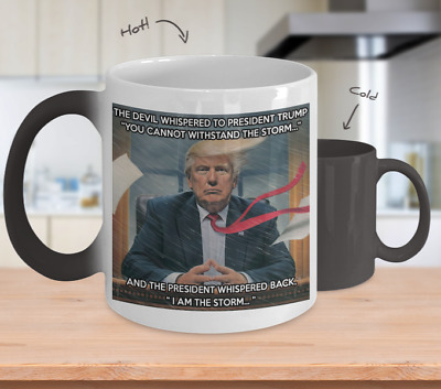 Mr President Donald Trump Mug Color Changing Magic Cup 11 oz - I Am The Storm