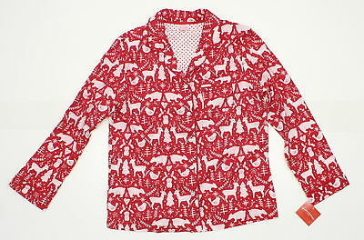 fa7ee17f43 New Wondershop Ladies Christmas Holiday Pajama Sleep Shirt Red Medium 07863