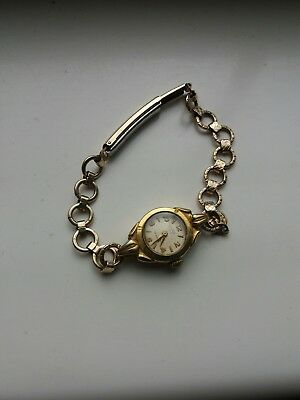 vintage ladys watch rolled gold  .uno 17 rubes