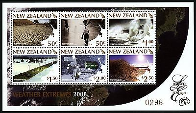 Neuseeland New Zealand 2008 Wetterextreme Limited Edition Block 221 MNH M€ 190