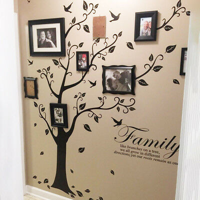 Removable Family Tree Wall Decals Mural Sticker DIY Art-Vinyl Home Sticker Decor