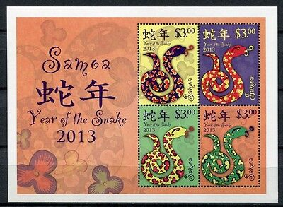 Samoa 2013 Jahr der Schlange Year of the Snake Neujahr Zodiac Block 81 MNH