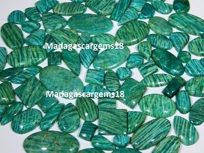 250 Ct Wholesale Lot Top Quality Natural Green Amazonite Cabochon Loose Gemstone