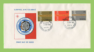 Malta 1971 Europa set on (red, white & blue) First Day Cover, Valletta