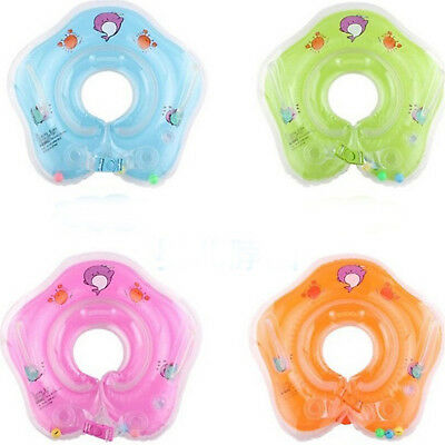 Baby Swimming Neck Float Inflatable Adjustable Ring Safety Aids 1-18 Months Fad