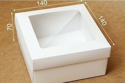 Large brown 20cm x 20cm x 10cm box with the clear lid gifts retail white 14cm x 14cm x 7cm clear lid boxes greeting cards gifts retail m4hsunfo