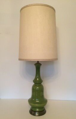 """RARE Lampe Phil-Mar U.S.A. """"Green""""  '60s *Vintage / Space Age* XXL LAMP"""