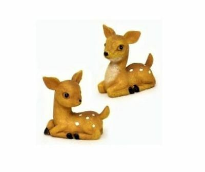 Miniature Fairy Garden Set of Two Fawns - Buy 3 Save $5