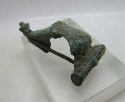 Circa 300-400Ad Ancient Roman Era Imperial Bronze Trumpet Brooch, British Find