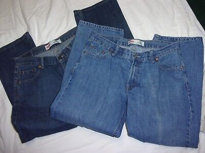 2--Lot----Boys---Levis  550---Relaxed Fit---Jeans---Size--12 Husky------32 X 27
