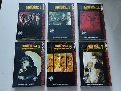 Tokyopop Battle Royale Vol. 1-2 & 4-7
