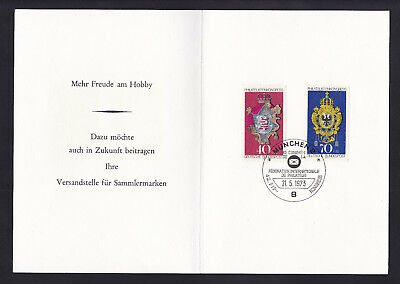 "Briefmarken BRD 1973 "" Kongress Philatelistenverband "" Faltgedenkblatt"