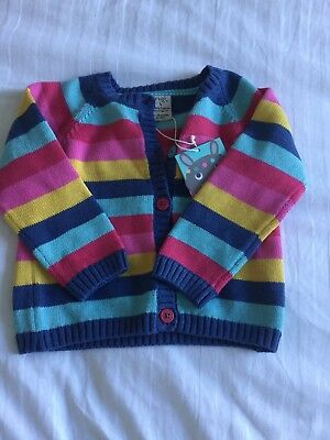 Frugi Cardigan Girls Age 18-24months. Brand New With Tags. Stripey Multicolour