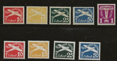 Germany Danzig Sc# C36-40,c42-5 Mlh Stamps
