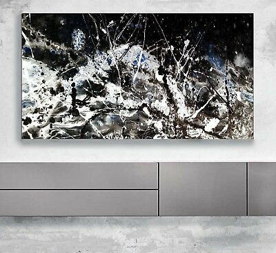 xxl bild 142x96x5 neu leinwand hirsch schwarz weiss abstrakt natur gem lde ikea eur 89 99. Black Bedroom Furniture Sets. Home Design Ideas