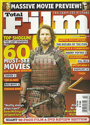 Total Film Oct '03 #81 Last Samurai Kill Bill Harry Potter Spider-Man Shrek Troy