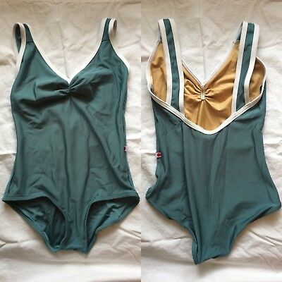 BRAND NEW Yumiko Leotard Small Tiffany Nylon Frost and White Front Lining