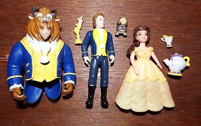 Bundle Disney Princess Beauty & the Beast Belle figure toy playset Chip Lumiere