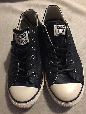 Women's Black Leather Converse All Star ⭐️