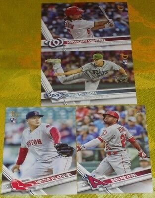 2017 Topps Update Vintage Stock Sp Cards Lot Of 4 #'s Us109,186,243,290 #ed To99