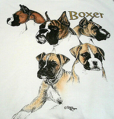 "Boxer T-shirt  "" White "" 2XL ( 50 - 52 )"