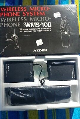 AZDEN WMS-10#2  WIRELESS MICROPHONE,  RECEIVER & TRANSMITTER.for video camera
