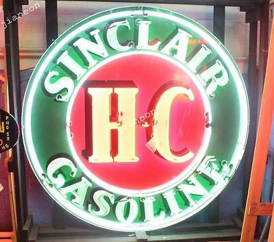 "24""X24"" Sinclair HC Dinosaur Gasoline Motor Gas & Oils Station NEON SIGN LIGHT"