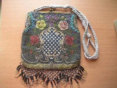 alte antike Perlentasche beaded purse