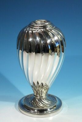 Stunning Antique Late Victorian Silver Plated Spiral Fluted Oil Lamp Base.