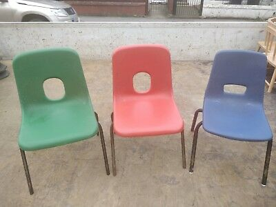 26 plastic vintage infant school chairs will suit 3 7 year old
